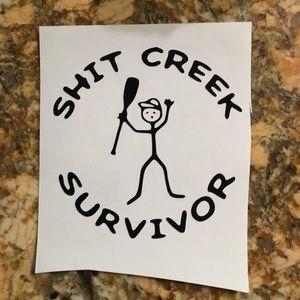 Sh*t Creek Survivor Vinyl Decal